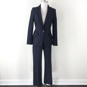 Iris Setlakwe Navy blue Ponte Pant Suit 8 Pinstrip